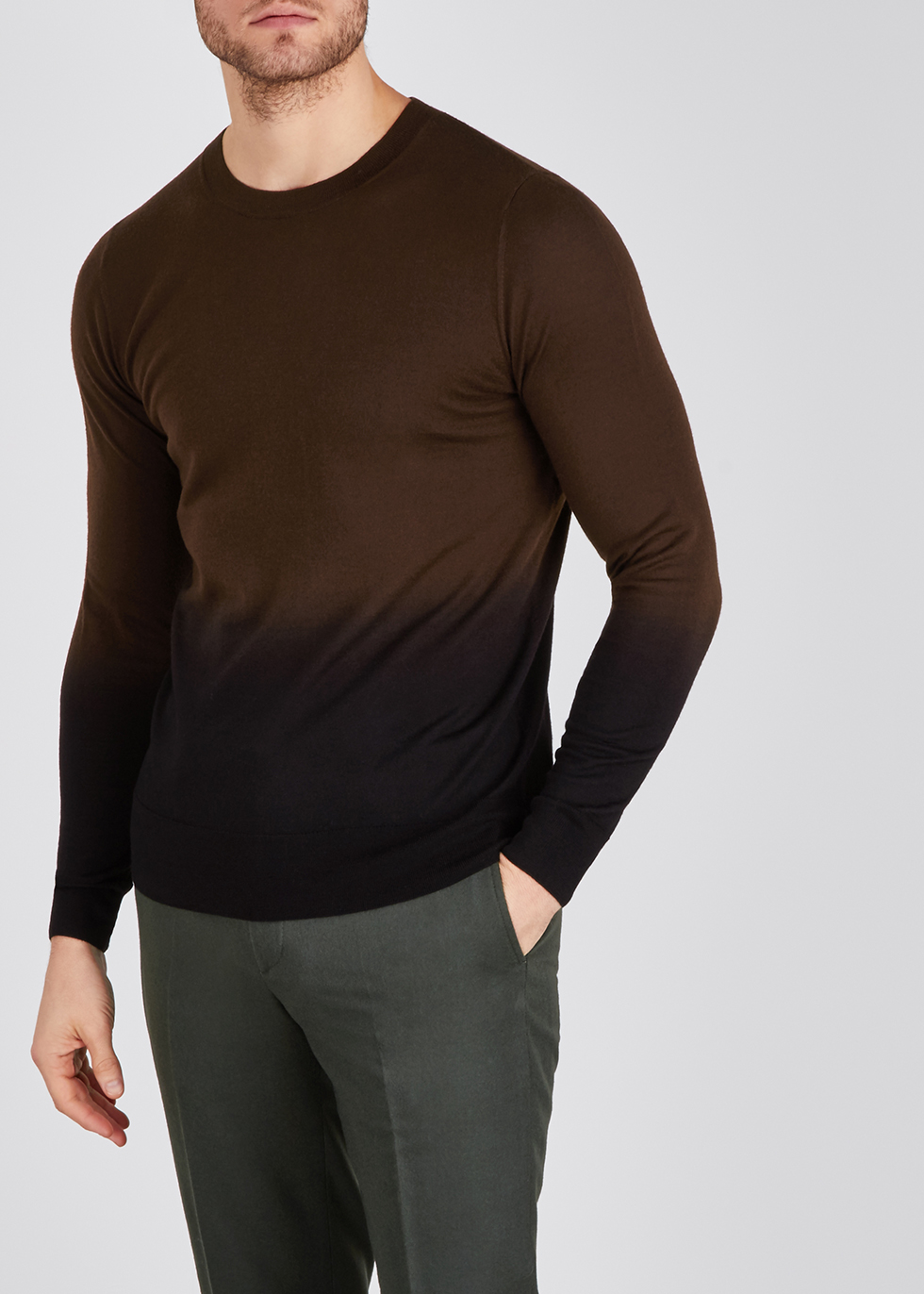 Nameday dégradé merino wool jumper - Dries Van Noten