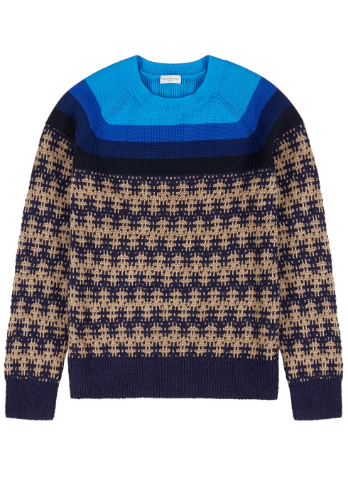 cc69a800a8 Dries Van Noten Nebular jacquard-panelled jumper - Harvey Nichols