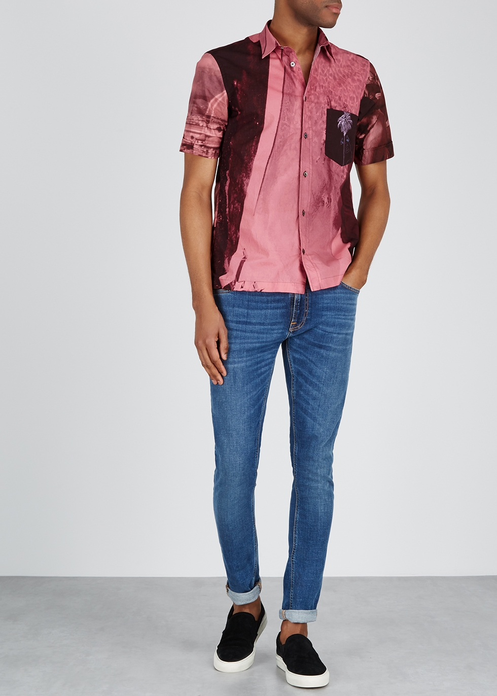 Pink printed cotton shirt - Paul Smith