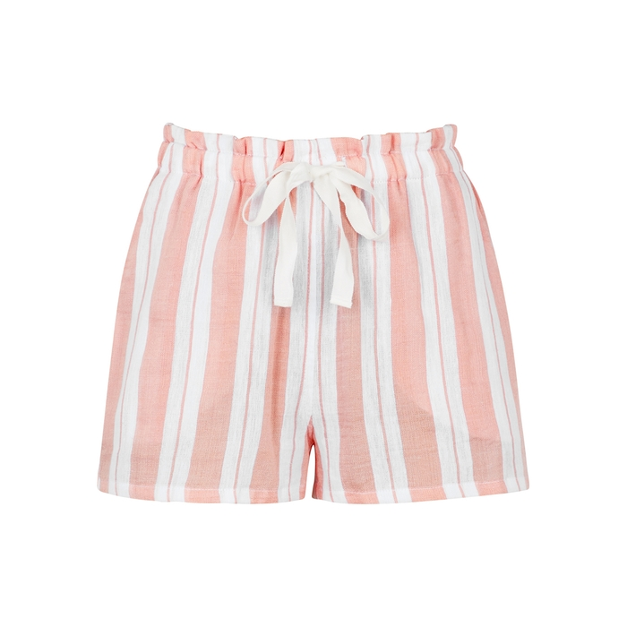 Lemlem Shorts DORO STRIPED COTTON-BLEND SHORTS
