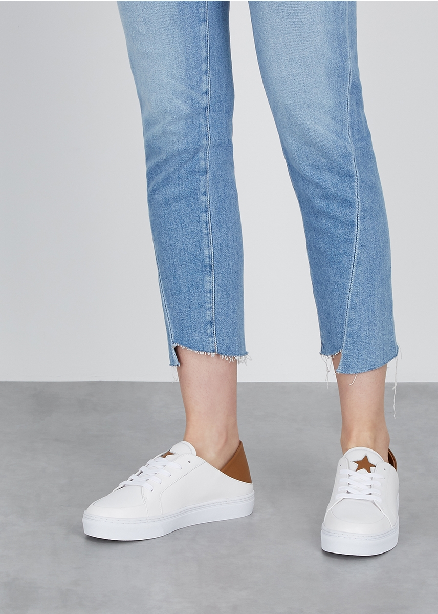 a9a897c9d57 Astrid white leather trainers Astrid white leather trainers