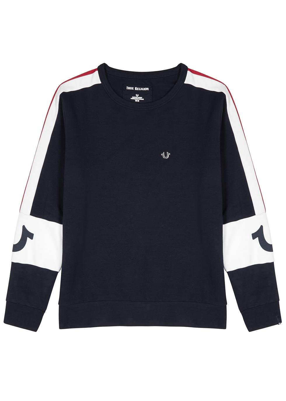 Navy cotton-blend sweatshirt - True Religion