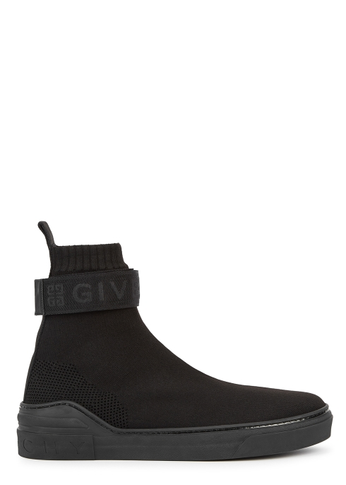 baa6989962d3 Givenchy George V black stretch-knit trainers - Harvey Nichols
