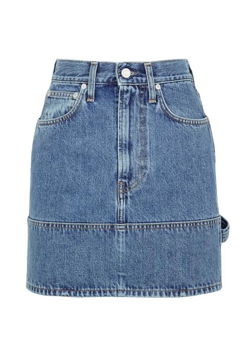 c057ba633318 Helmut Lang Blue denim mini skirt - Harvey Nichols