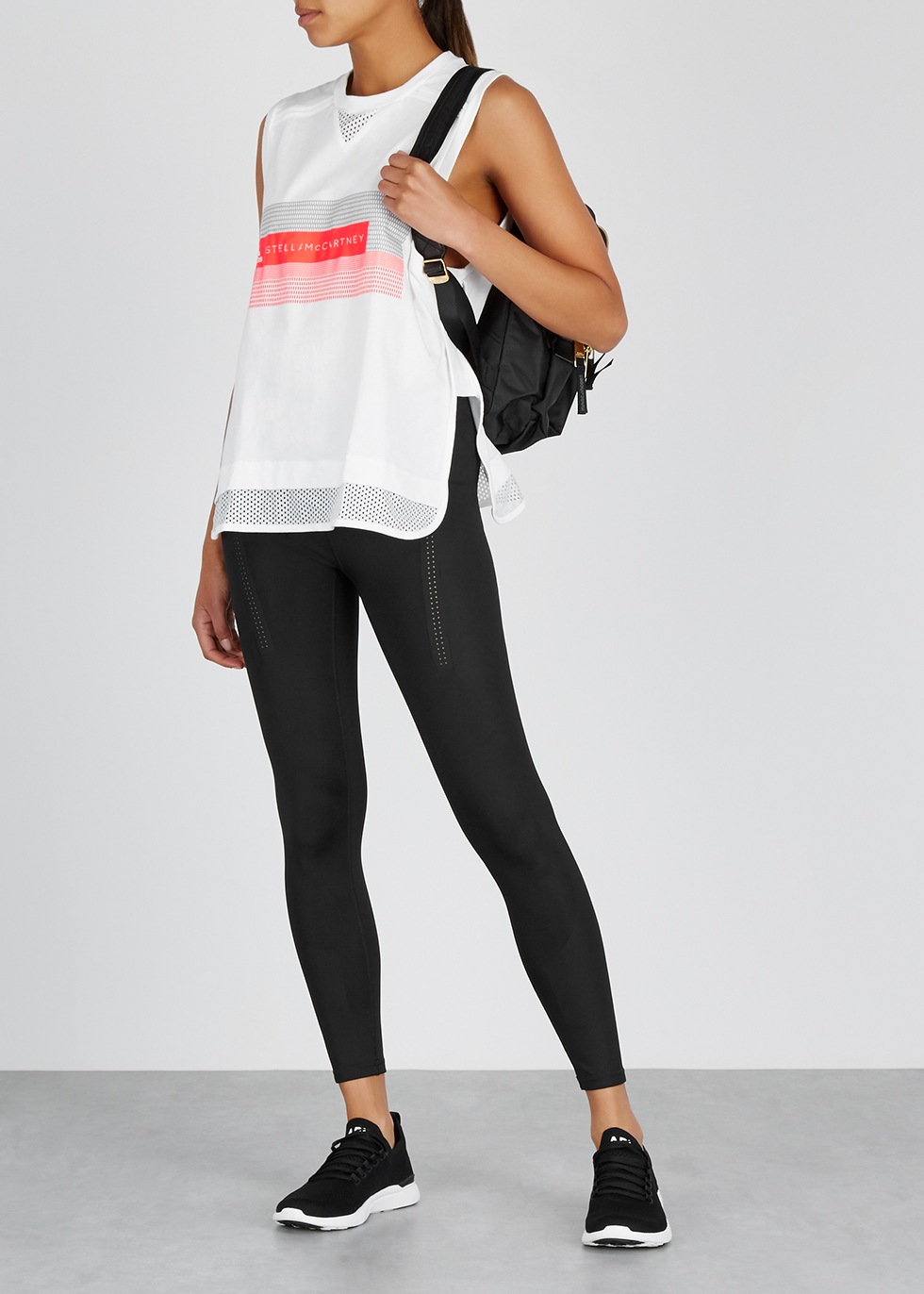 White printed cotton-blend top - adidas X Stella McCartney