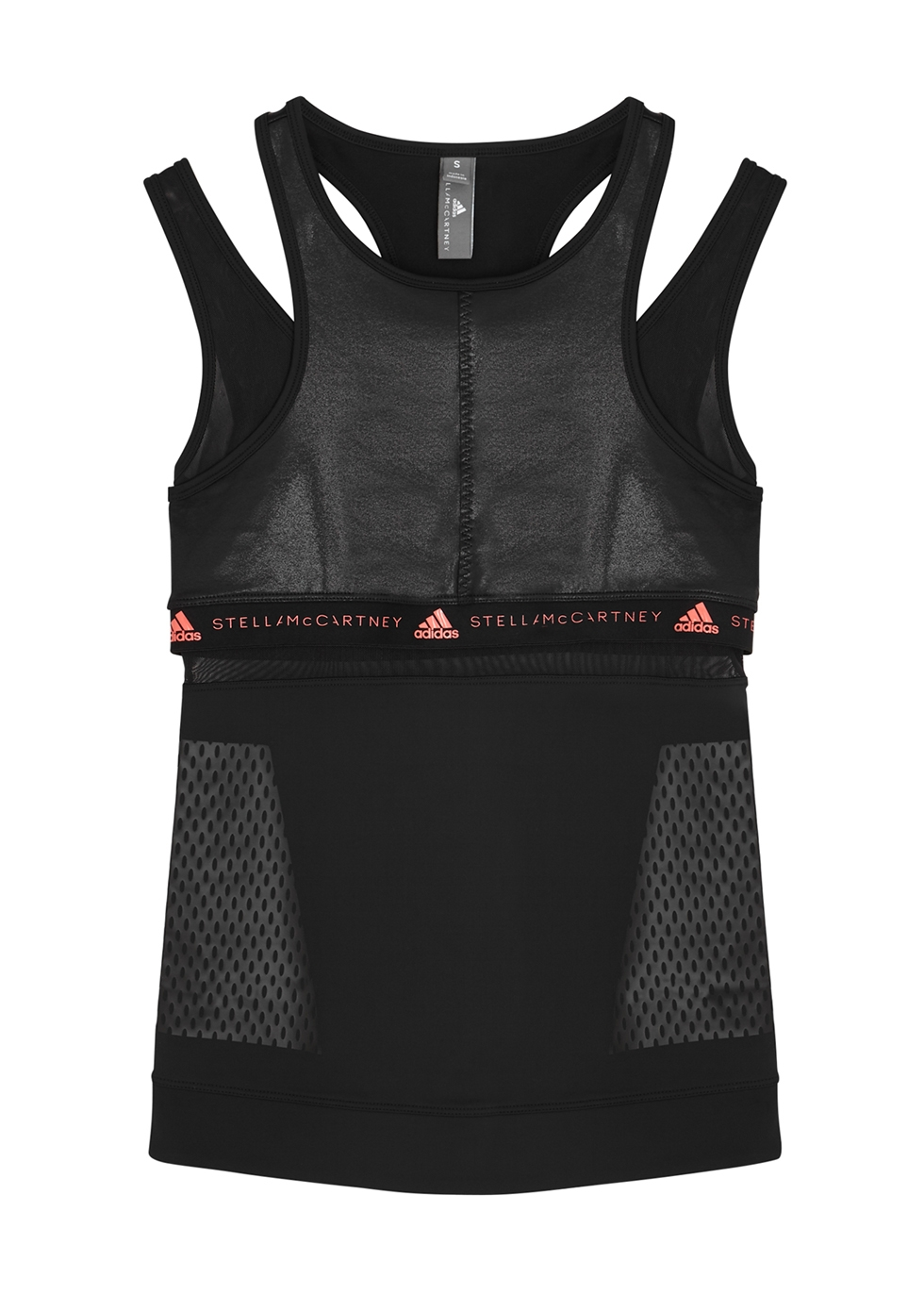 Black layered top - adidas X Stella McCartney