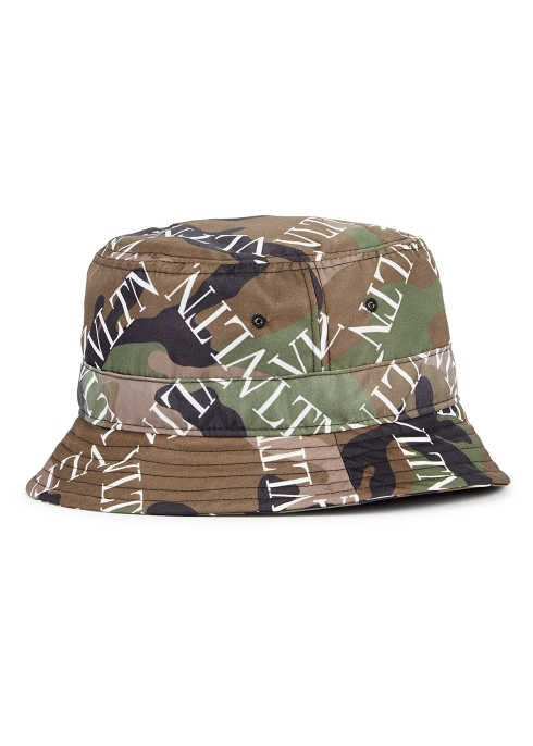 Valentino Garavani Camouflage logo-print bucket hat - Harvey Nichols 52e4094dd20