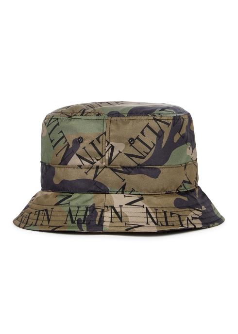 e322a242592cf Valentino Garavani VLTN Grid camouflage bucket hat - Harvey Nichols