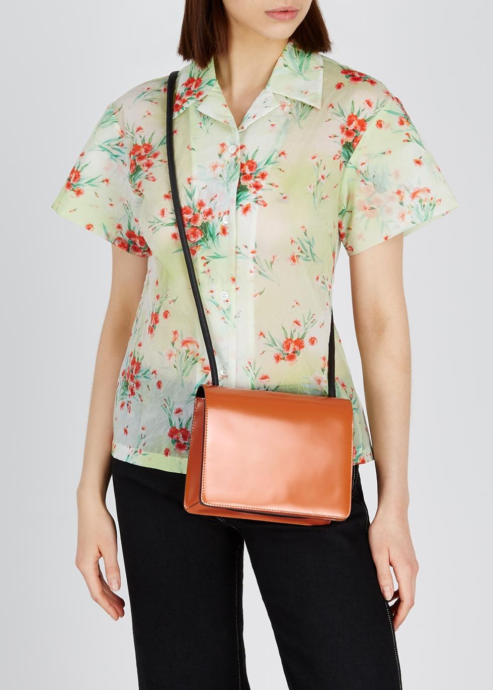Two-tone leather shoulder bag - Dries Van Noten