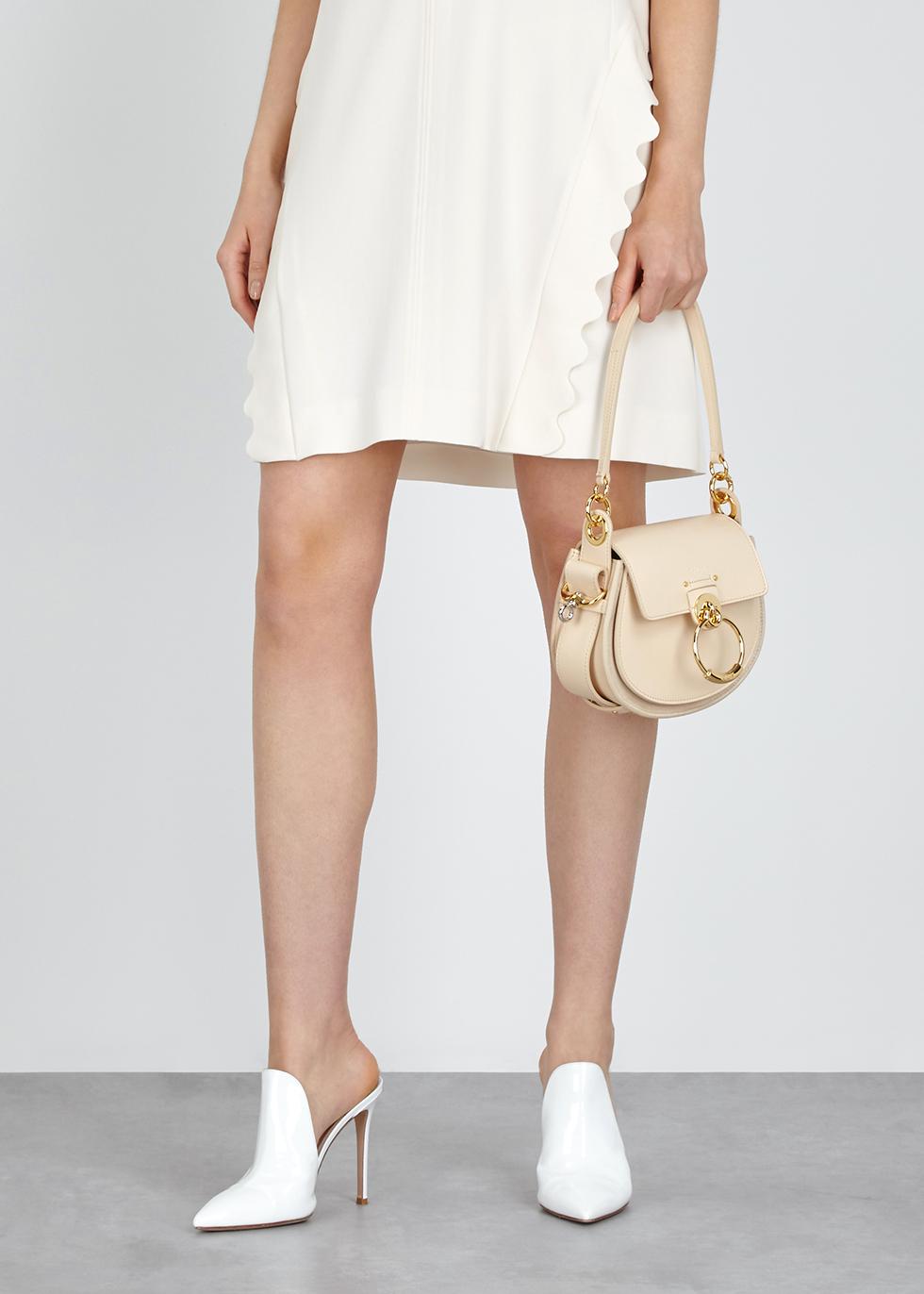 Tess small almond leather shoulder bag - Chloé