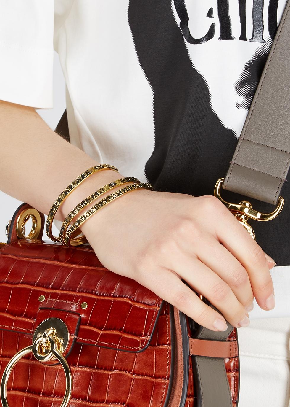 Engraved gold-tone bracelets - Chloé