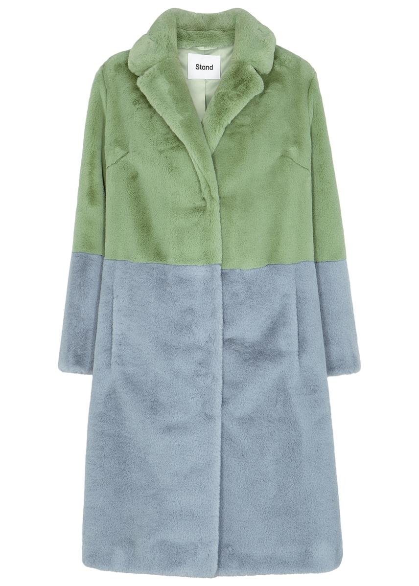 9e198beb5f66 Maribel colour-block faux fur coat ...