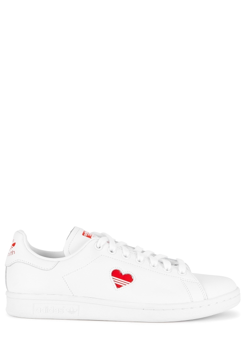 brand new 6baef 5c549 adidas Originals Stan Smith white leather trainers - Harvey ...