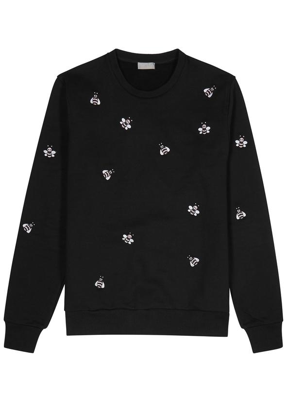 Black bee-embroidered sweatshirt Black bee-embroidered sweatshirt. New  Season. Dior Homme 466358861093
