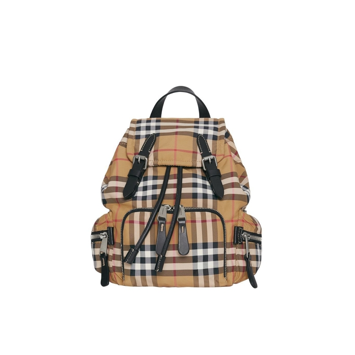 Burberry The Small Crossbody Rucksack In Vintage Check  f27480fe8acbf