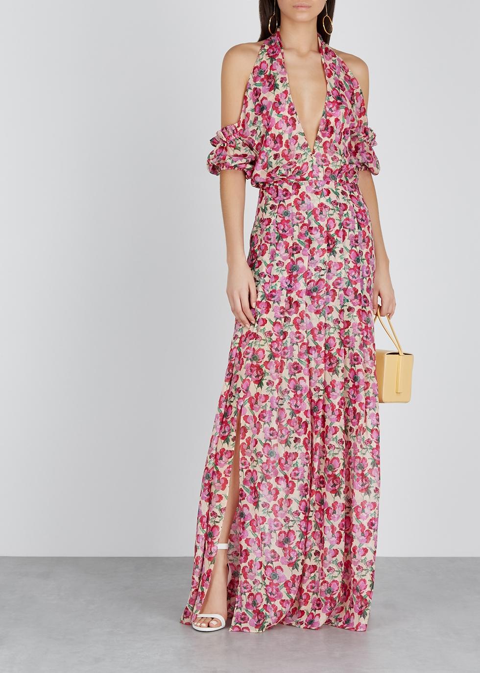 Jess floral-print silk-chiffon dress - Raquel Diniz