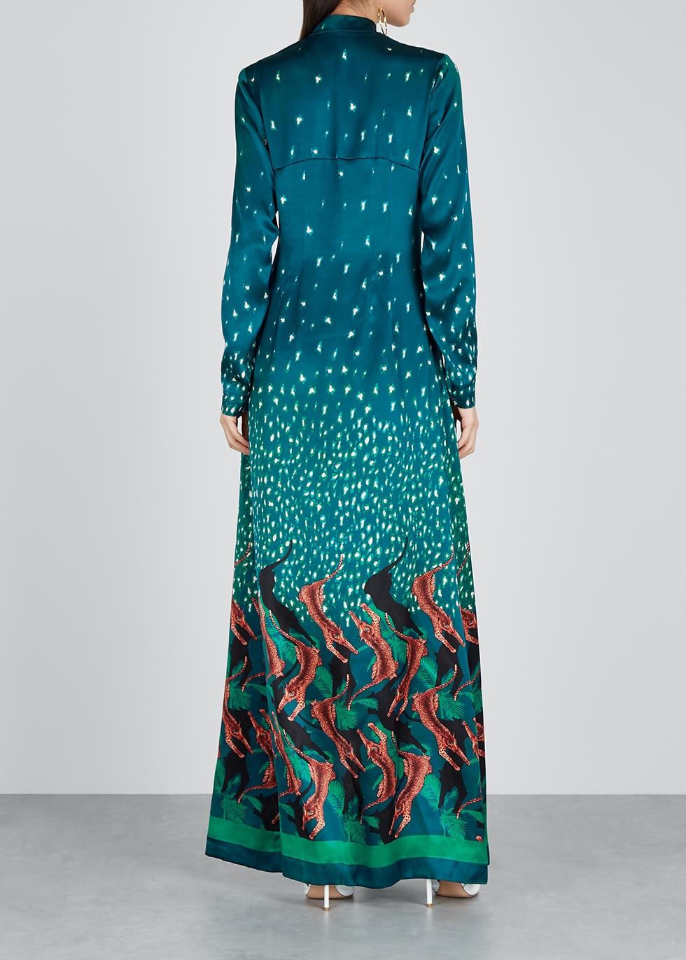 Victoria printed silk maxi dress - Raquel Diniz