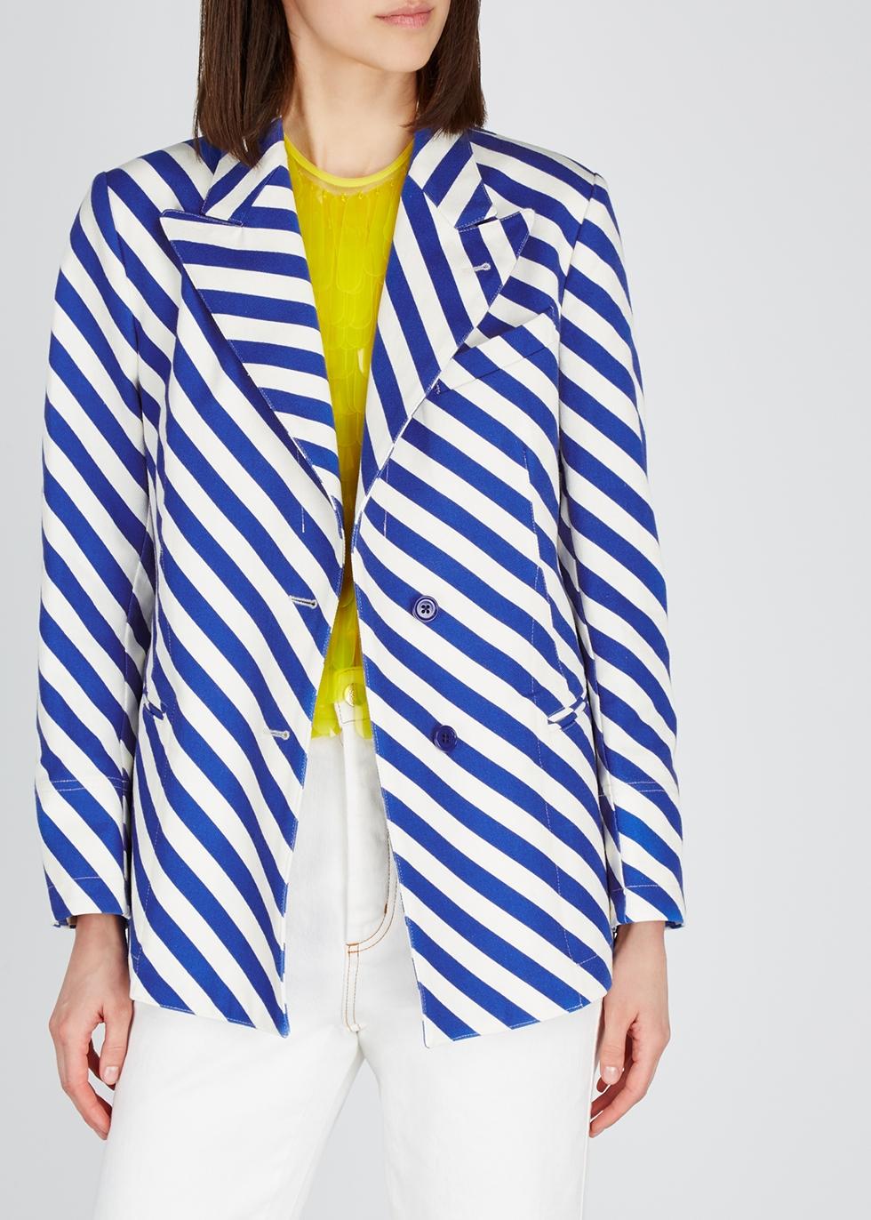 Bolyn striped cotton blazer - Dries Van Noten