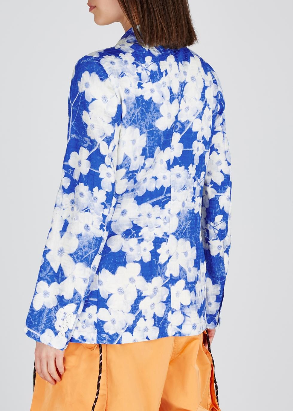 Bondovi floral-print twill blazer - Dries Van Noten