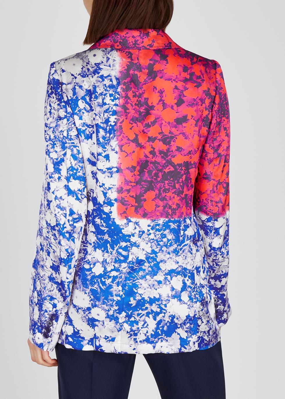 Bondovi printed satin jacket - Dries Van Noten