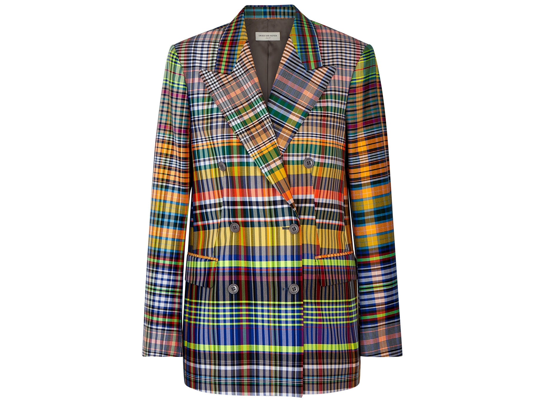 67e46131c7 Dries Van Noten Bovan checked woven blazer - Harvey Nichols