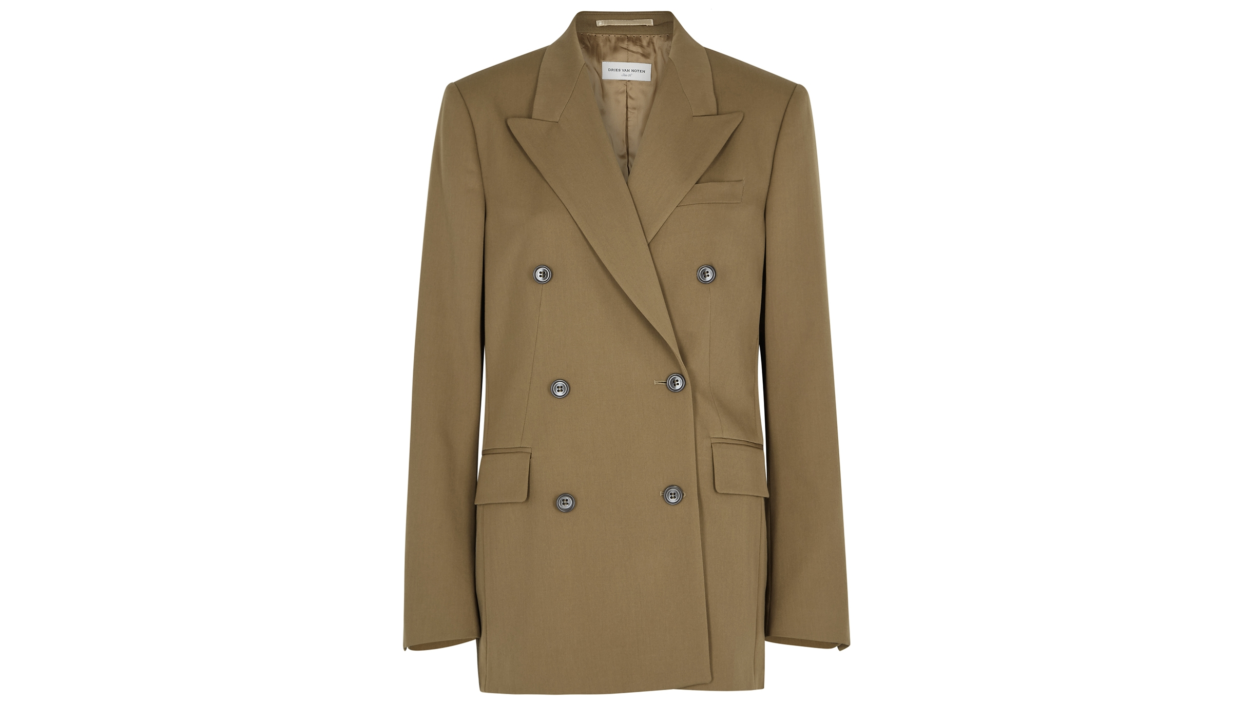 12b44ad2fa Bovan olive wool blazer. £885.00. Formal mixed with flashes of flamboyance  is the vibe at Dries Van Noten ...