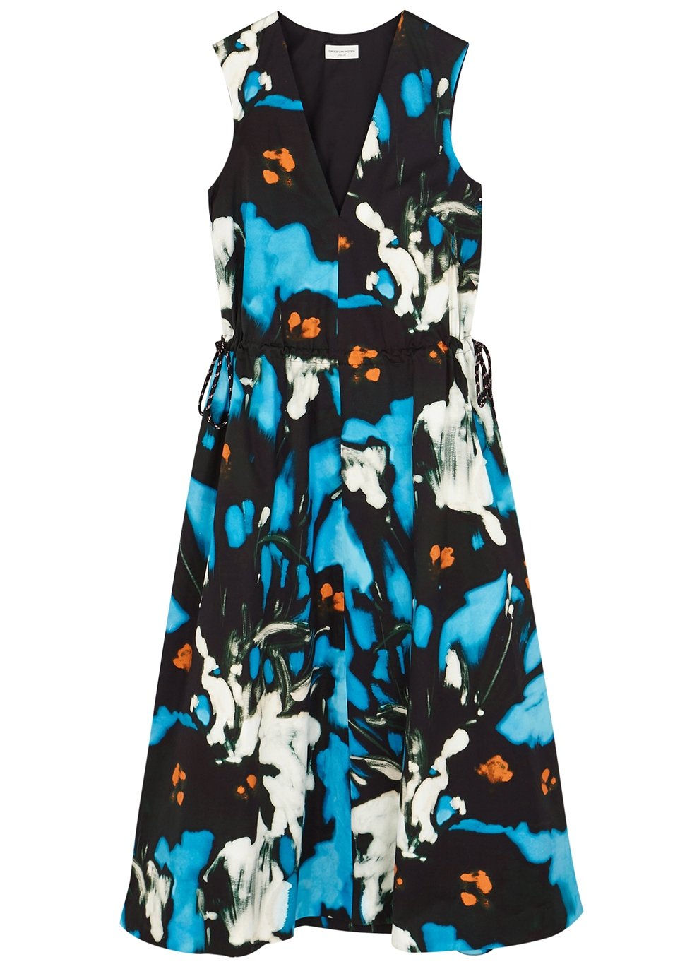 Dampin printed cotton midi dress - Dries Van Noten