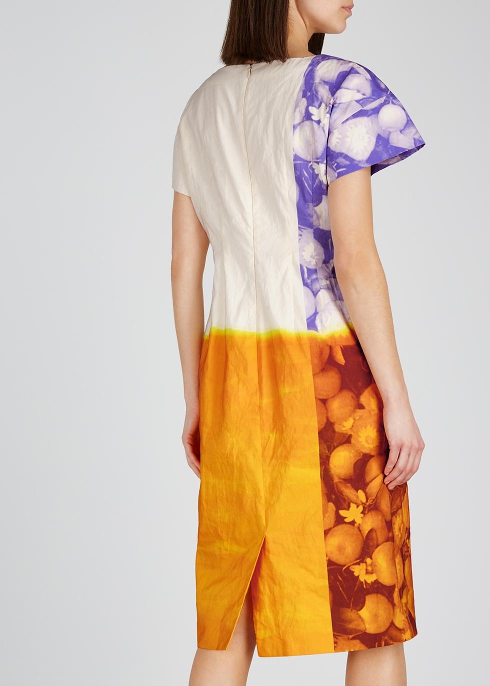 Della printed cotton-blend midi dress - Dries Van Noten