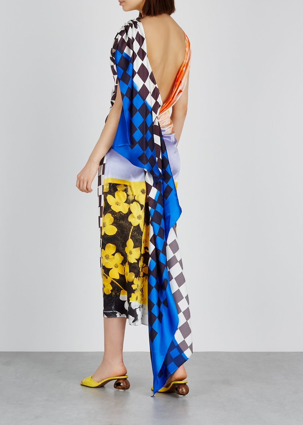 Diala printed silk midi dress - Dries Van Noten
