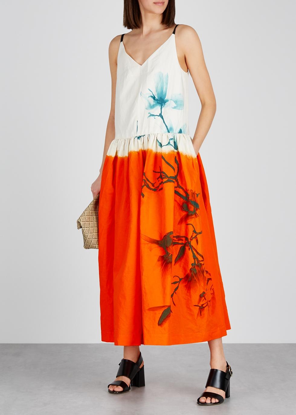 Dita printed cotton-blend dress - Dries Van Noten