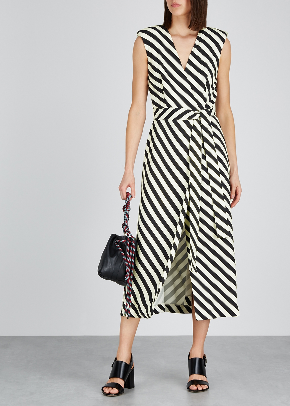 Dove striped midi wrap dress - Dries Van Noten