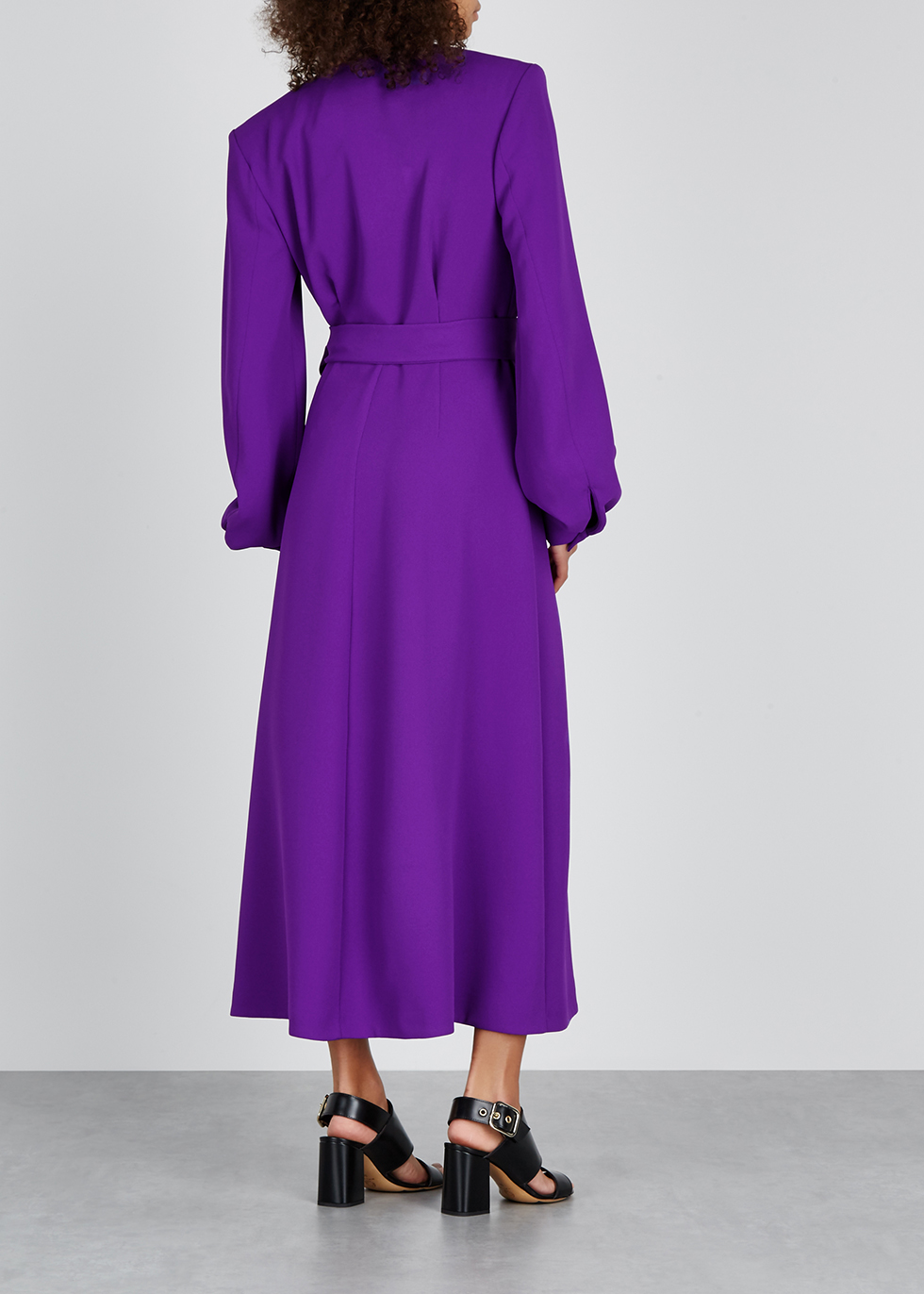 Dove purple midi wrap dress - Dries Van Noten
