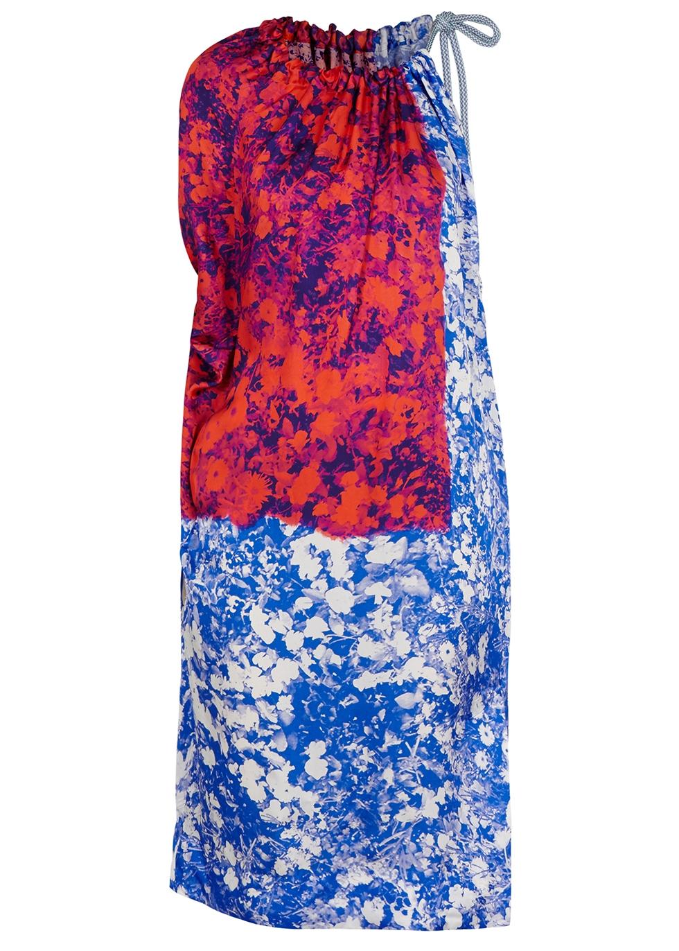 Dren printed satin twill midi dress - Dries Van Noten