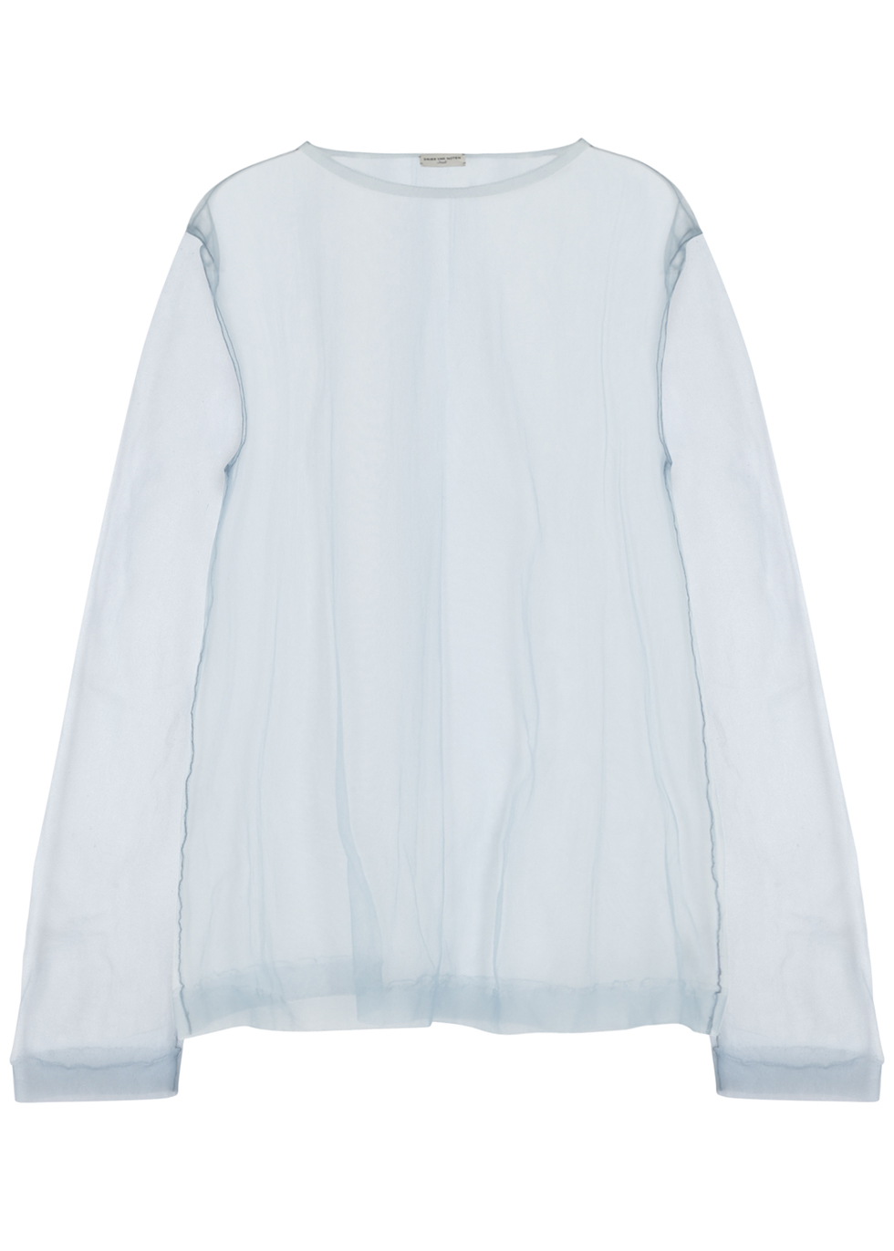 Neliza light blue tulle top - Dries Van Noten