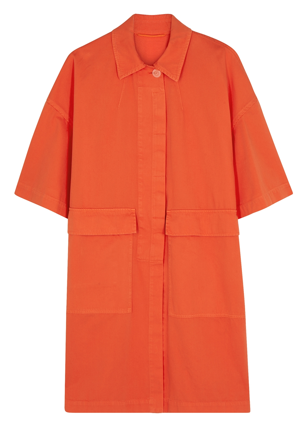 Rand orange cotton jacket - Dries Van Noten