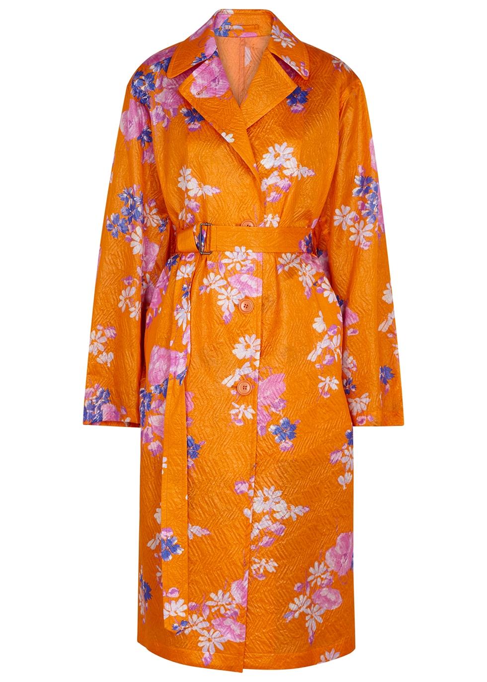 Rubor printed silk-blend cloqué jacket - Dries Van Noten