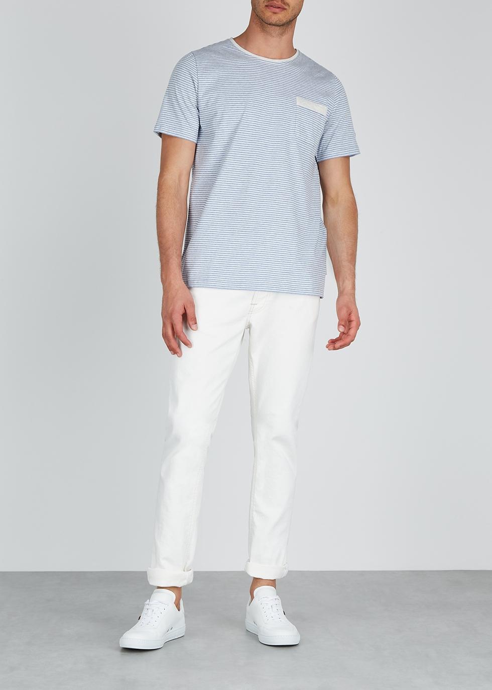 Blue striped cotton T-shirt - Oliver Spencer