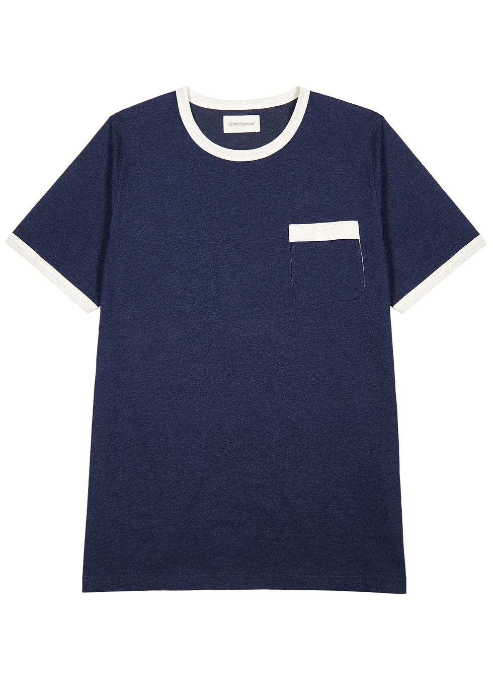 Navy cotton T-shirt - Oliver Spencer