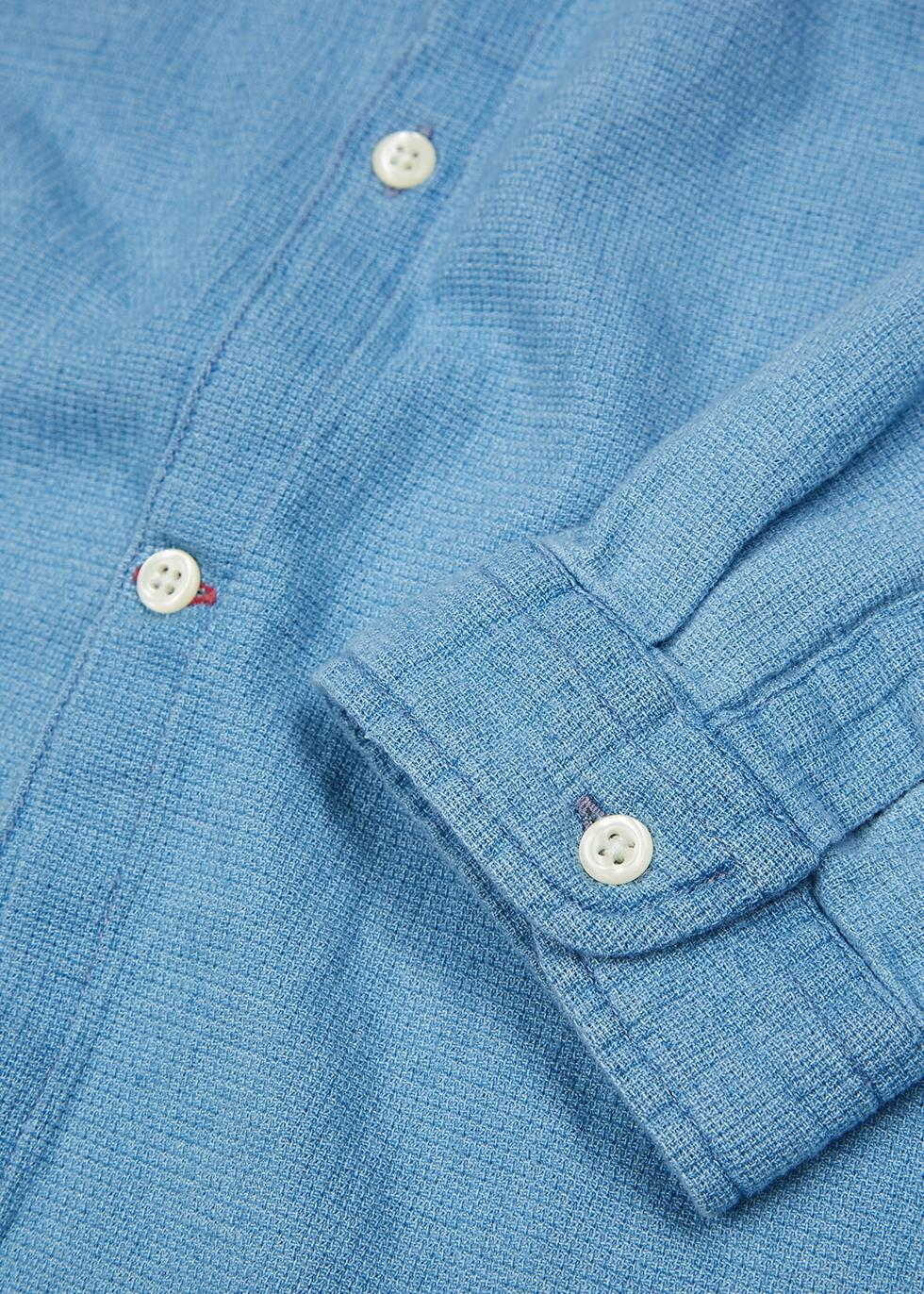 Kildale blue cotton chambray shirt - Oliver Spencer