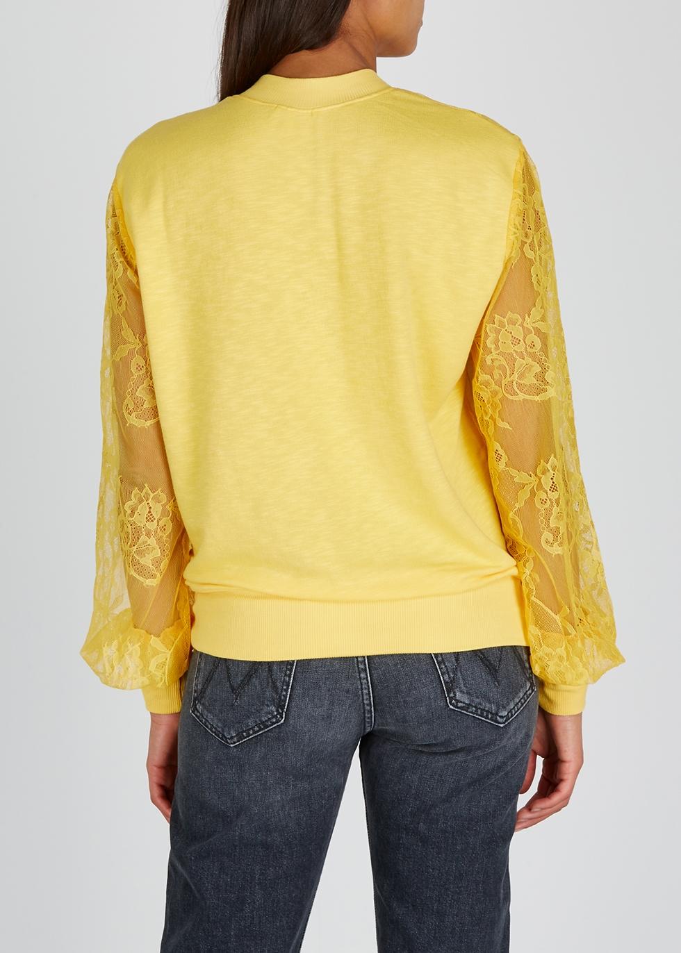 Yellow lace sweatshirt - Clu