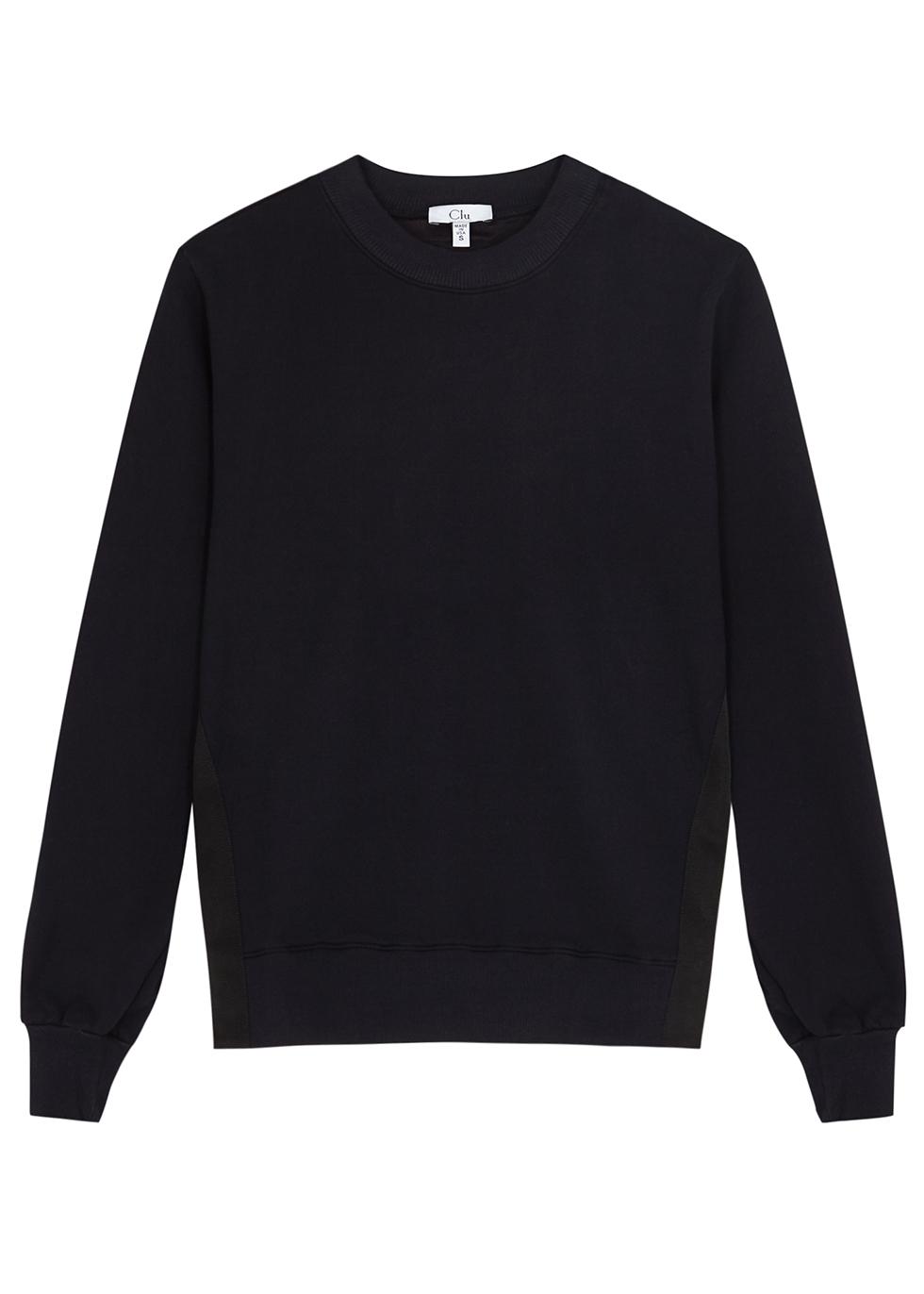 Navy and white cotton sweatshirt - Clu