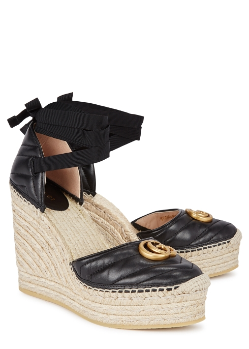 b524931eec3d Gucci Palmira 155 espadrille wedge sandals - Harvey Nichols