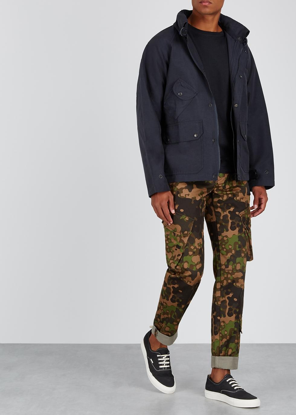 Carmel navy cotton-blend twill jacket - South2 West8