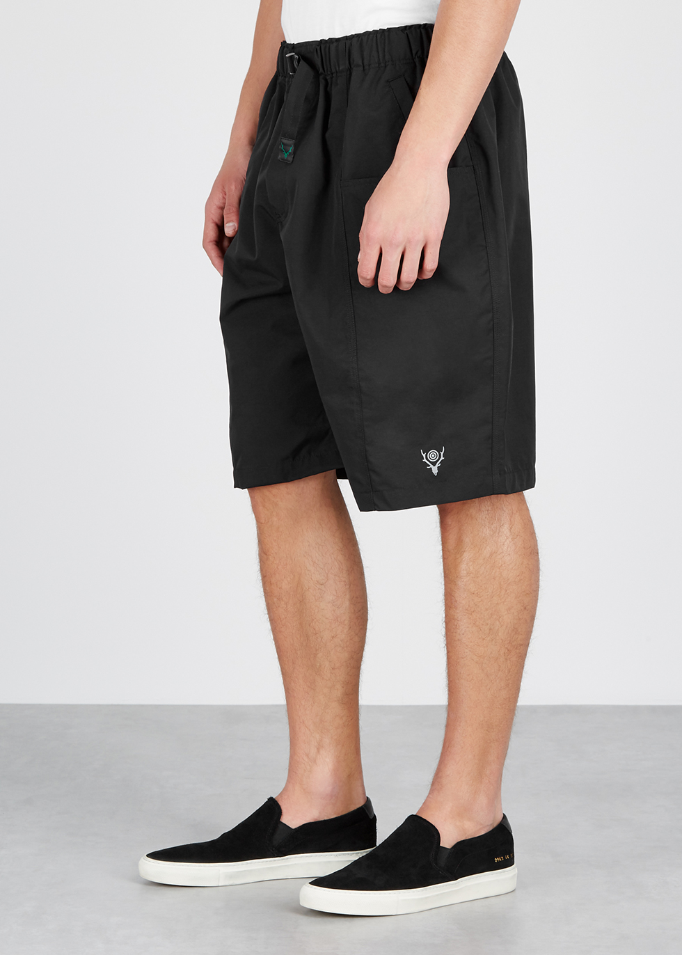 Black shell shorts - South2 West8
