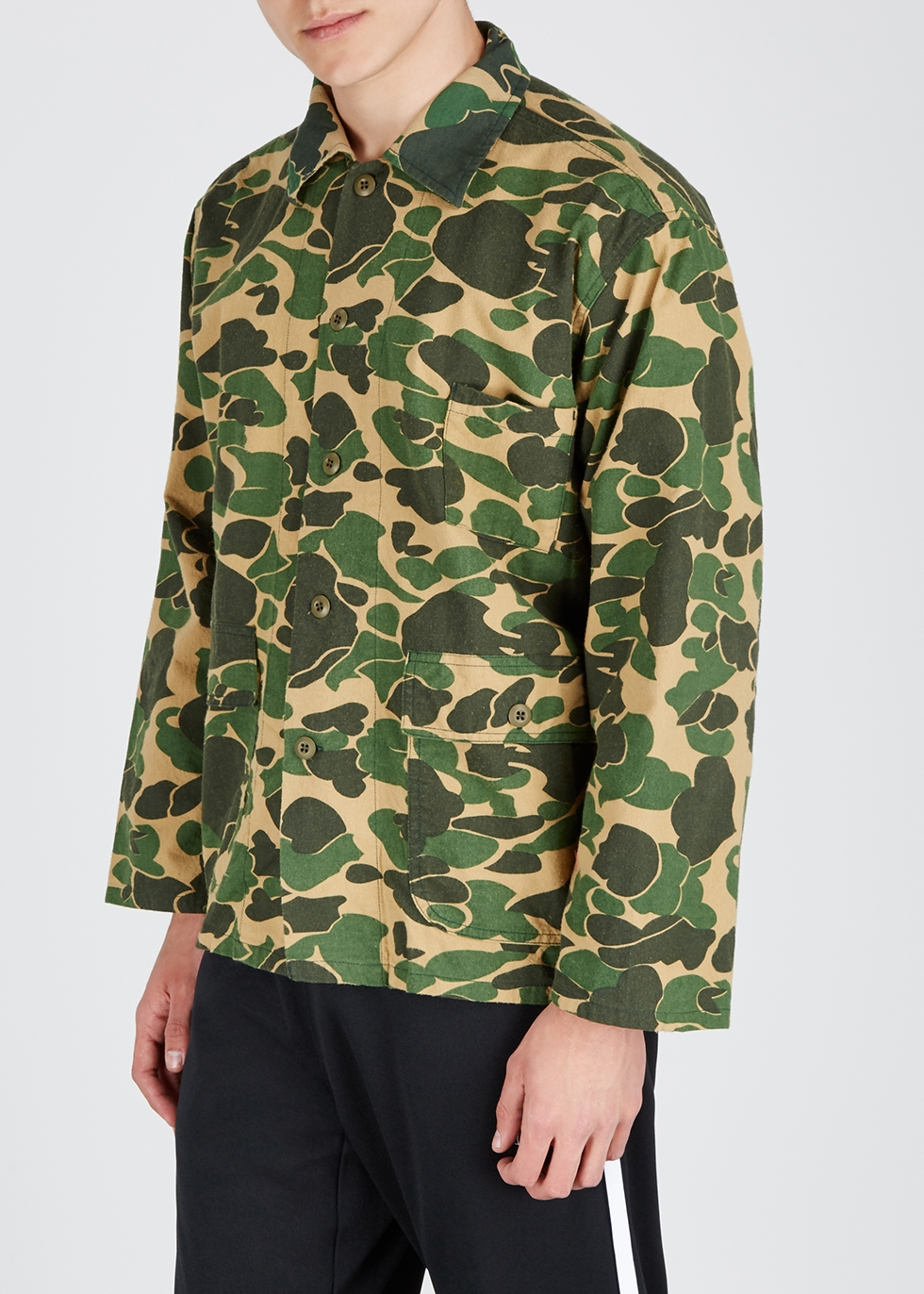 Hunting camouflage-print cotton shirt - South2 West8