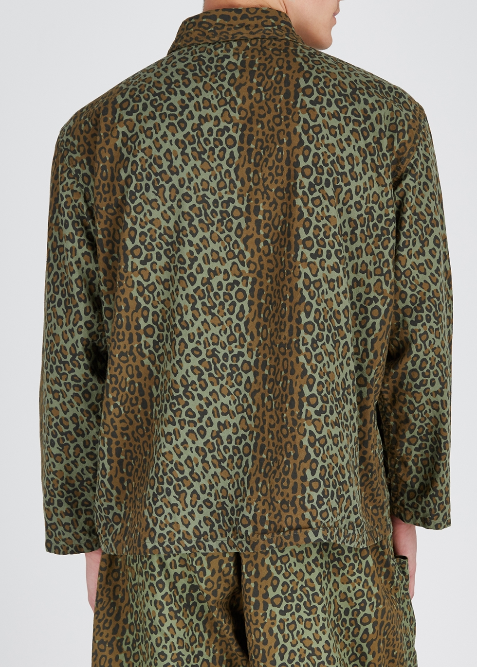 Hunting leopard-print cotton shirt - South2 West8