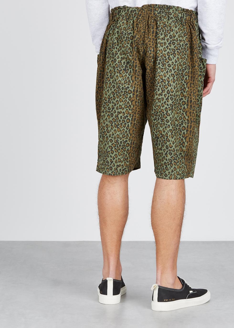 Sitting leopard-print cotton shorts - South2 West8