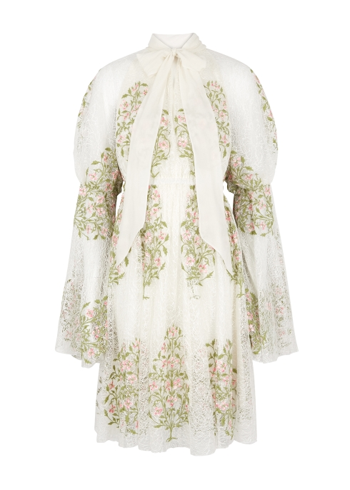 8d466913bf179 Giambattista Valli Embroidered crochet lace dress - Harvey Nichols