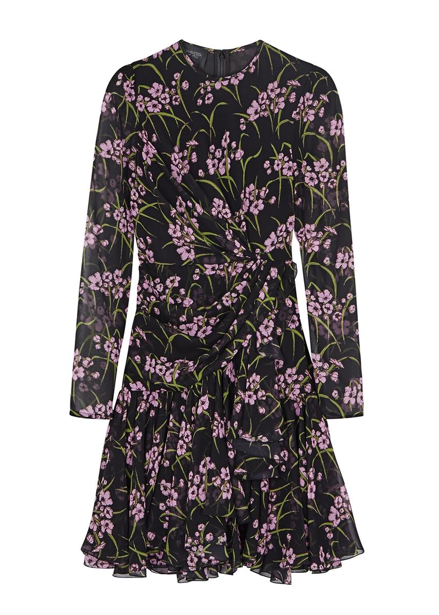 729a8c6122bcb Floral-print silk chiffon mini dress ...