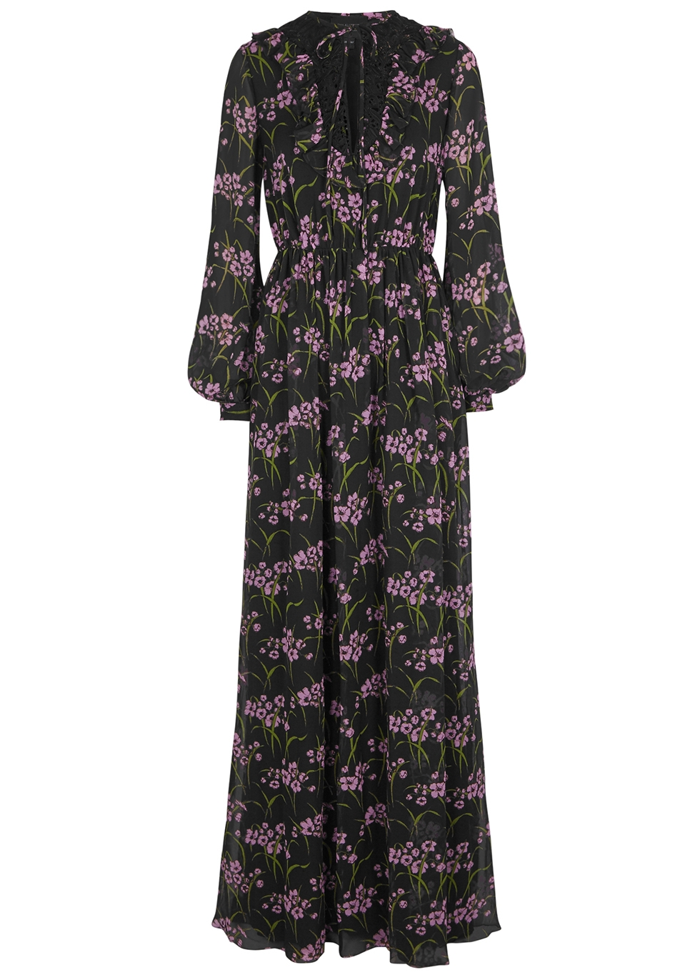 Gray Chiffon Maxi Dress